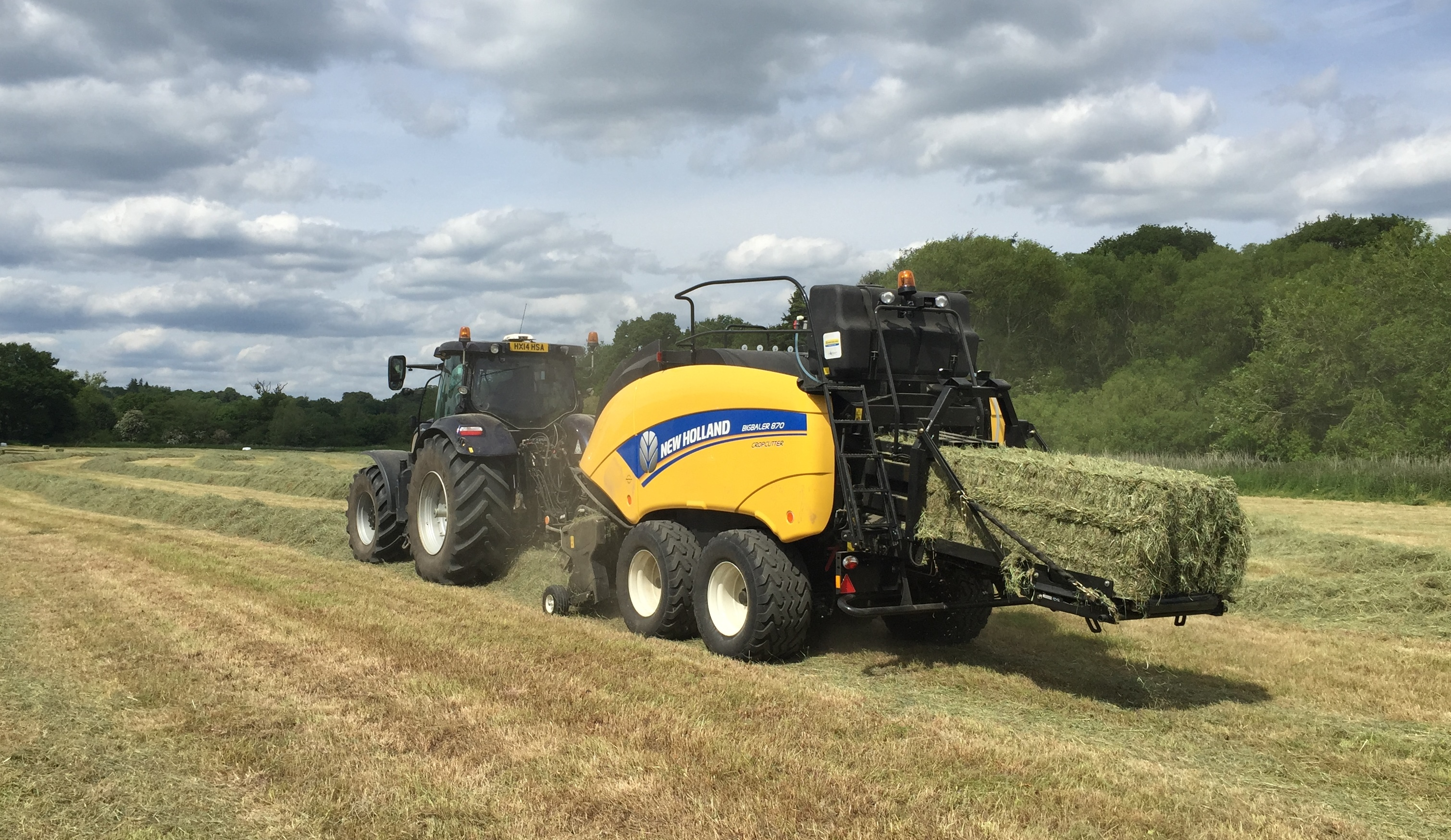 New Holland CropSaver hay baling